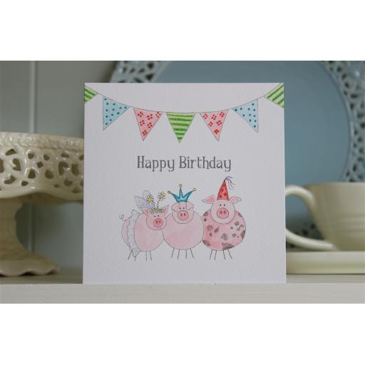 BG19 Happy Birthday Pigs
