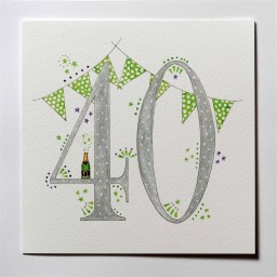 Hand drawn 40th birthday card