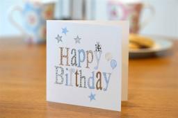 Hand drawn, simple birthday card