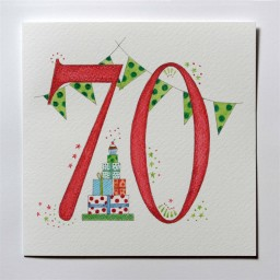 Hand drawn 70th birthday card