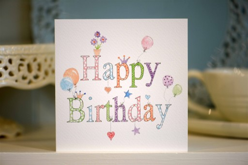 BG11  Happy Birthday (pink)