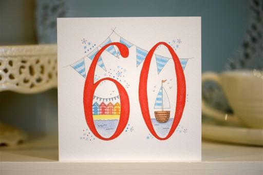Hand drawn 60th birthday card