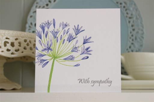 Hand Drawn With Sympathy Card