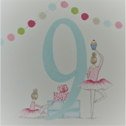 BG39  Girl's No.9 Ballerinas