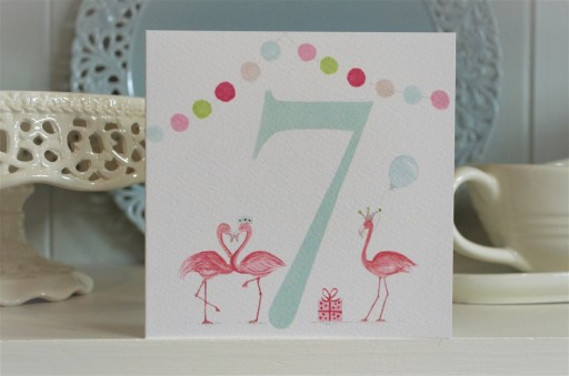 BG37  Girl's No.7 Flamingos