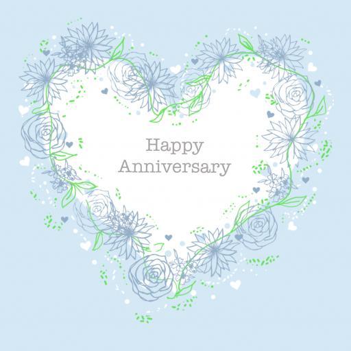 A2 Anniversary Blue Heart