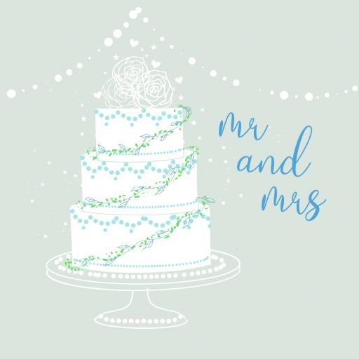 W4 Mr & Mrs Wedding Cake