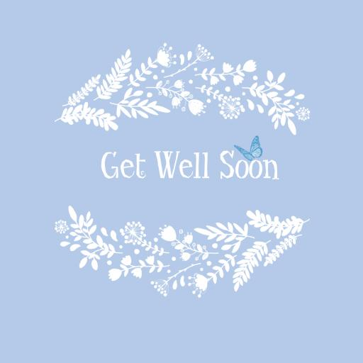 GWS4 Get Well Soon Half Garland