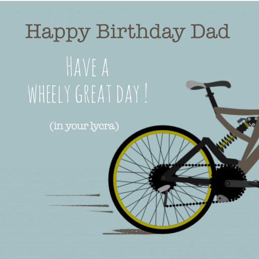 D3 Dad Cycling Birthday