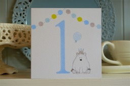 Hand drawn 1st birthday card