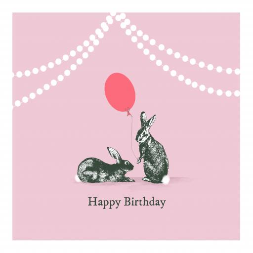 BG29 Vintage Birthday Bunnies