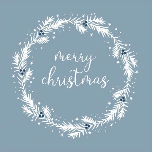 CH15 Merry Christmas White Wreath