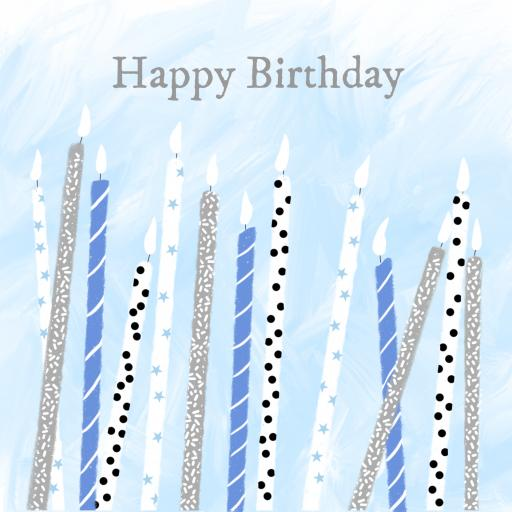 BB25 Happy Birthday Candles (Blue)