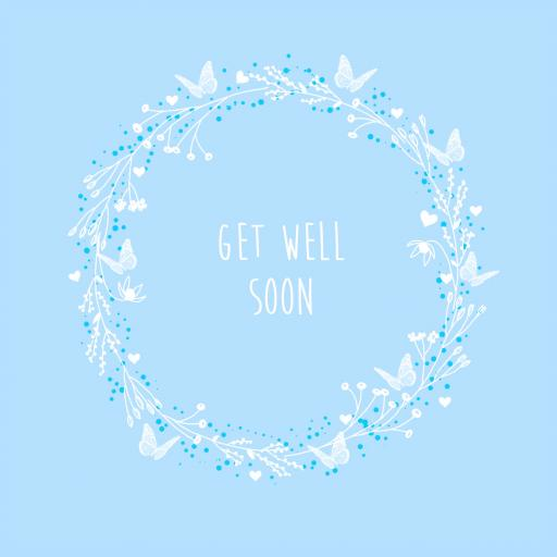 GWS3 Get Well Soon Butterfly Garland
