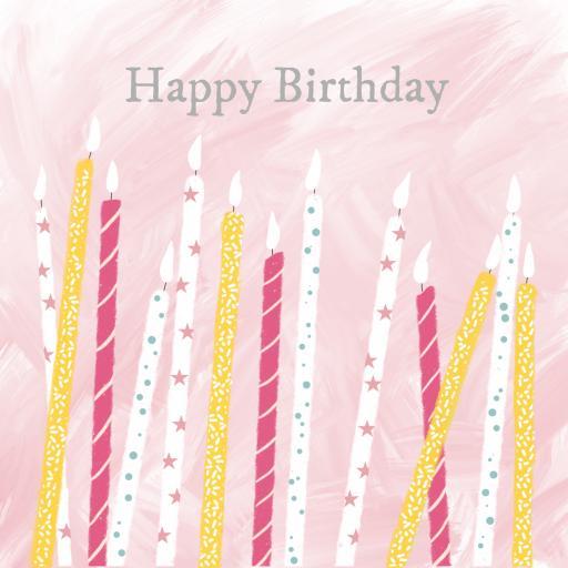 BG48 Happy Birthday Candles (Girls)