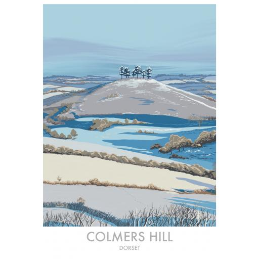 Colmers Hill, Dorset in Winter
